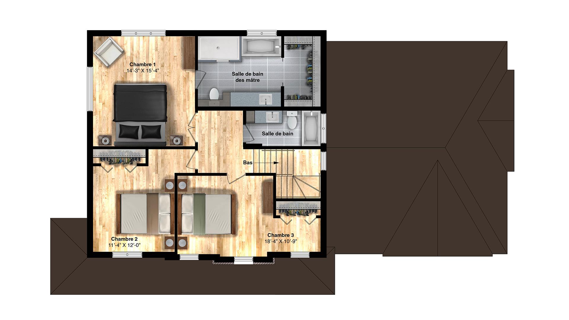 danburry-plan-plancher-etage