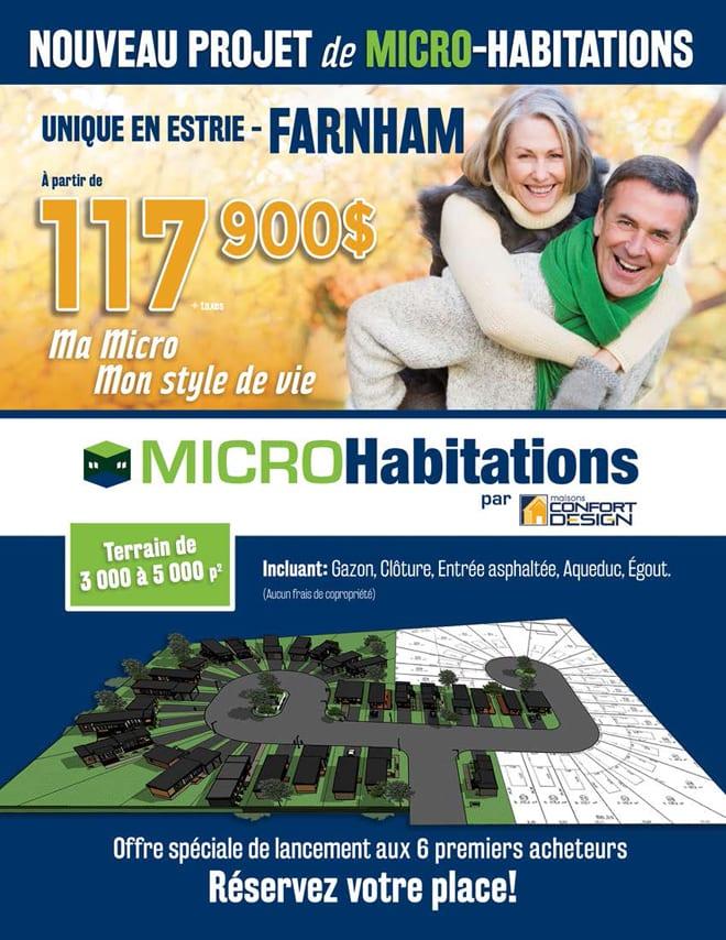 Projet Micro Habitations Farnham Confort Design