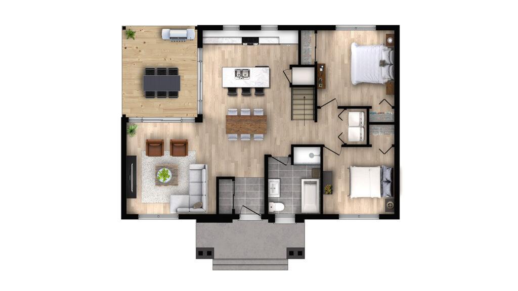 confort design plan de plancher